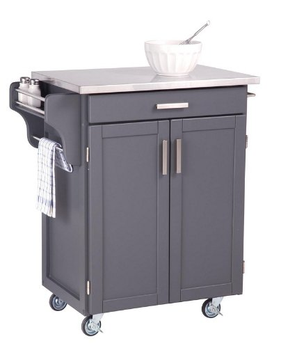 Cheap Kitchen Cart with Stainless Steel Top in Gray Finish (VF_HY-9001-0082)