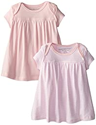 Burt\'s Bees Baby-Girls Organic 2 Pack of Dresses, Blossom, 18 Months