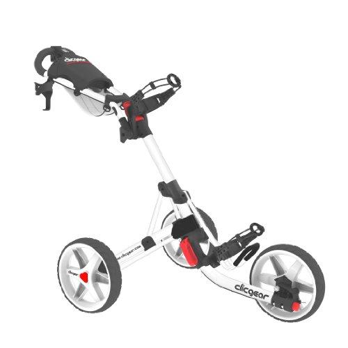 Clicgear 3.5 Golf Trolley 3 Rad Push Messeneuheit Farbe: All/White