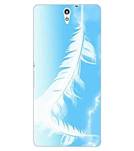 ColourCraft Feathers Design Back Case Cover for SONY XPERIA C5 E5553 / E5506