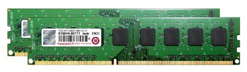 Transcend JetRam デスクトップPC用増設メモリ PC3-12800(DDR3-1600) 16GB KIT(8GB×2) 永久保証 JM1600KLH-16GK