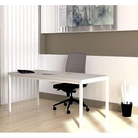 DeskandSit Mop72001 Tavolo da Lavoro, Scrivania 160x80cm grigio 1061 chiaro