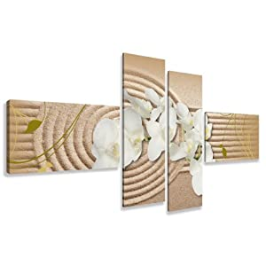 Quadro su tela Spa 160 x 70 cm 4 tele modello nr XXL 6532. I quadri sono montati su telai di vero legno.    recensione Voto