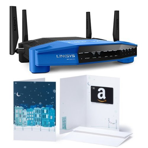 Linksys WRT AC1900 Dual-Band Smart Wi-Fi Wireless Router and $30 Amazon Gift Card image