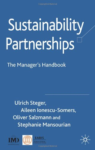 Sustainability Partnerships: The Manager'S Handbook