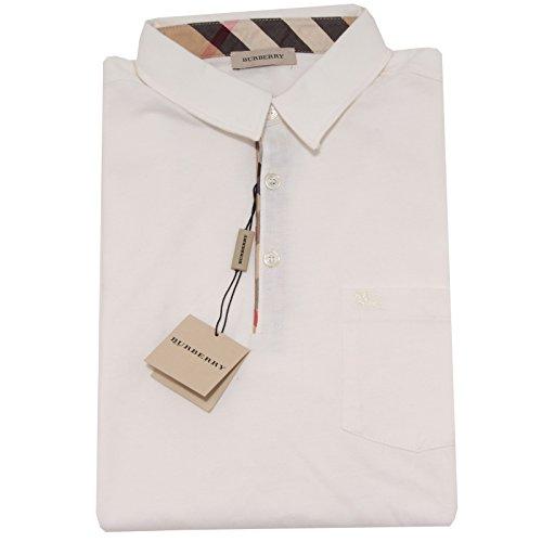 5863I polo bimbo panna BURBERRY manica lunga maglie t-shirts kids [14 ANNI]