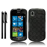 SAMSUNG FOCUS i917 GEL CASE - BLACK, WITH TOUCHSCREEN STYLUS TWIN PACK