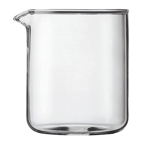 Bodum Transparent Glass Spare Coffee Maker Beaker 4 Cup 0.5L (17Oz)