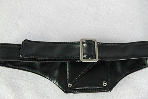 Cosplay Tokyo Ghoul Kaneki Ken Adjustable Zipper Masks PU Leather Cool Mask Black