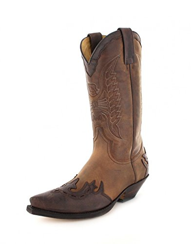 Sendra Boots2560 - Stivali western Unisex - adulto , Marrone (Chocolate Tang), 45