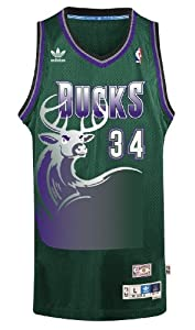 Ray Allen Milwaukee Bucks Adidas NBA Throwback Swingman Jersey - Green by adidas
