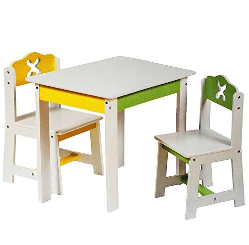 1 tisch für kinder ? aus holz ? ? weiß / grün / gelb ... - Kinderzimmer Weis Grun