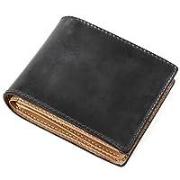 (ラファエロ) Raffaello 一流の革職人が作る ブライドルレザーで製作したメンズ二つ折財布 革財布 本革 メンズ財布