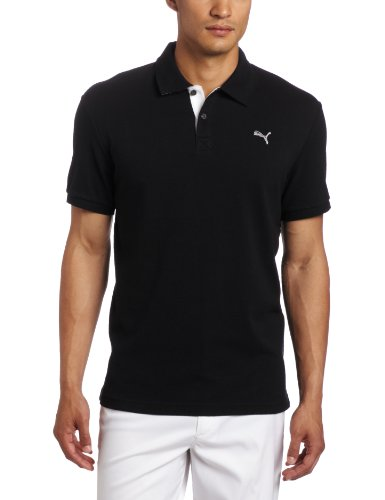 Puma Golf Men s Golf Transdry Pique Polo (Black, X-Large)