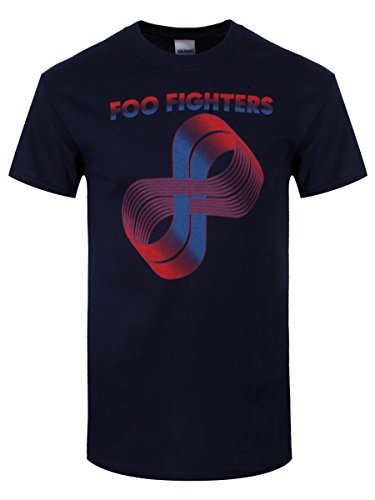 Foo Fighters Logo alevros Loops t-shirt blu scuro. Con licenza ufficiale blu navy