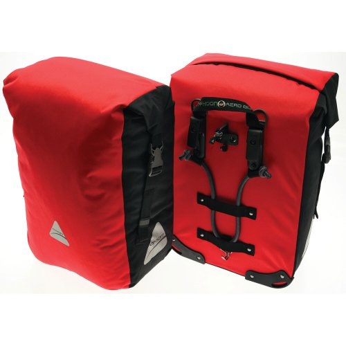 Axiom Typhoon Aero DLX Pannier Pair - 2,746 cu in., Red/Black
