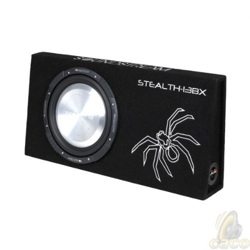"Soundstream Pw-12Tbx Shallow Truck Box Loaded With Single 12"" Picasso Series Subwoofer At 4-Ohm Final Impedance"
