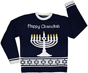 Ugly Holiday Sweater - Lighted Chanukah Holiday Sweater with LED Lights