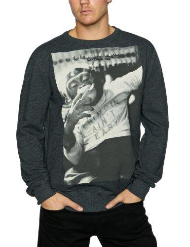 Friend Or Faux Chimpin Sweat Men's Sweatshirt Charcoal Marl X-Large