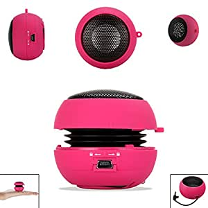 PINK 3.5mm Audio Jack Portable Plug and Play Hamburger Rechargeable Mini Wired Speaker For HUAWEI ASCEND G510