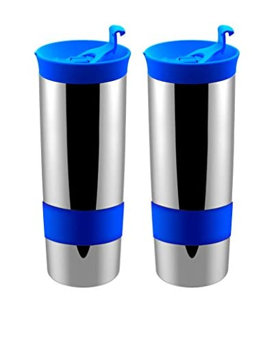 asobu Set of 2 Hot Coffee & Tea Press, Blue