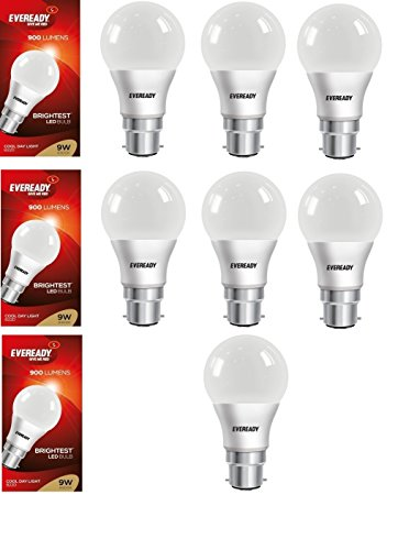 9W Cool Day Light 900 Lumens LED Bulb (Pack of 7)