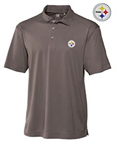 Pittsburgh Steelers Mens Drytec Genre Polo Circuit by Cutter & Buck