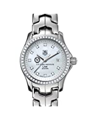 US Naval Institute Women's TAG Heuer Link Watch with Diamond Bezel