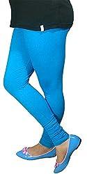 Anuze Fashions Turquoise Cotton Lycra Ruby Design Legging