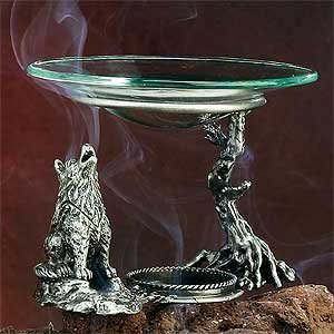 Coyote Dual Function Fragrance Oil and Cone Incense Burner