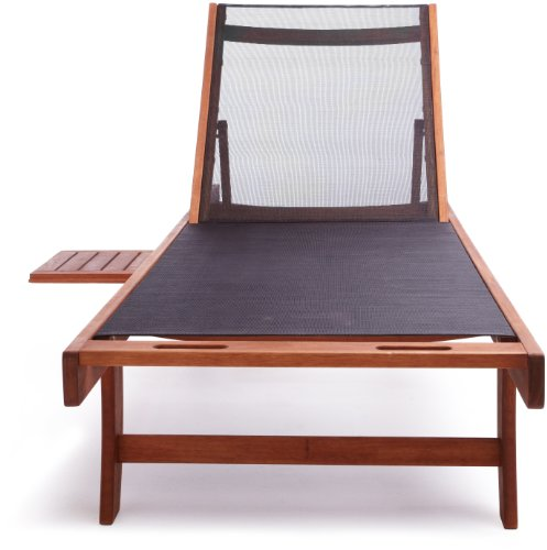 Best strathwood basics chaise lounge chair with textilene for Best price chaise lounge