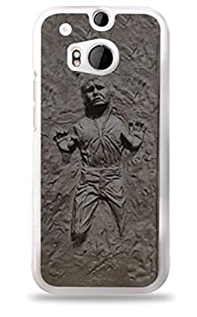 buy Silver Han Solo Frozen In Carbonite Star Wars Htc One (M8) White Hardshell Case