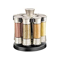 KitchenArt ELITE Carousel Spice Herb Rack Store w/ 8 Jars Swivel Container NEW