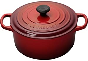 Le Creuset Signature Enameled Cast-Iron 3-1/2-Quart Round French (Dutch) Oven, Cherry