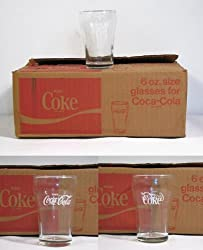 Set of 12 Coca-Cola Six Ounce Fountain Glasses