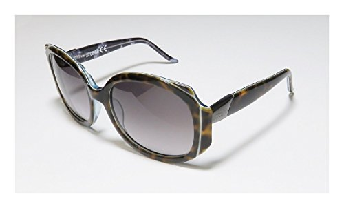[Just Cavalli Jc339s Womens/Ladies Designer Full-rim Gradient Lenses Sunglasses/Shades (58-18-130, Tortoise / Blue /] (Old Ash Ketchum Costume)