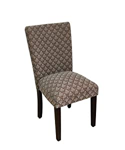 Classic Parsons Chair Upholstery: Blue Chocolate