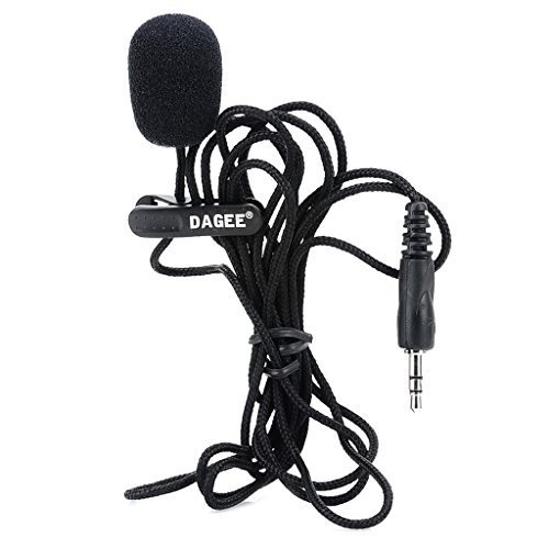 Gohero MIC Universal 3.5mm Jack Wired Nylon Housing Microphone for PC - Black (200cm)