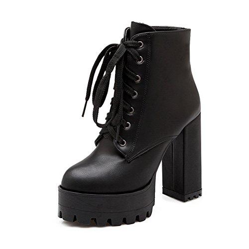 balamasa-girls-bandage-chunky-heels-platform-black-imitated-leather-boots-3-uk