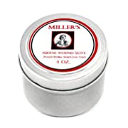 Intensive Skin Repair from Miller's Wound Care - 4 oz. Tin - with Lavender, Tea Tree & Other Essential Oils for Faster Healing and Pain Relief