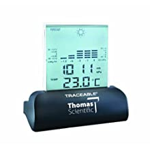 Thomas Traceable Workstation Digital Barometer, 15 to 158 degree F, 23.62 - 31.0&#034; Hg, 1/34&#034; Hg Resolution