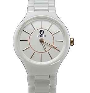High Quality White Ceramic Women Quartz Watch Water Resistant Best Gift for Girlfriend