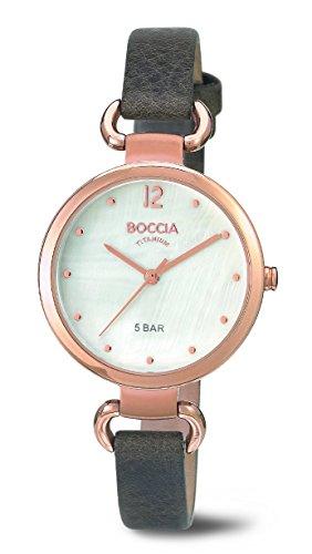 Boccia Ladies'Watch XS Analogue Quartz 3232-05 Leather
