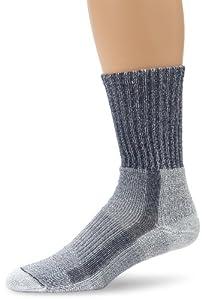 Thorlo Men's Coolmax Lt Hiker Crew Sock, Navy Heather, Large