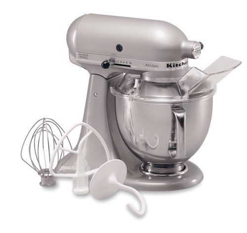 KitchenAid KSM150PSMC Artisan Series 5 Quart Mixer, Metallic Chrome By  Kitchenaid