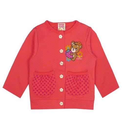 アスナロ(トップス カーディガン・パーカ) カーディガン 子供 女児 パロクラブ トップス 長袖 キャラプリント80 赤