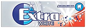 Wrigley Extra Ice White with Microgranules Sugarfree Chewing Gum 14 g (Pack of 30)