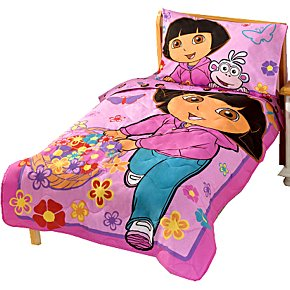 nickelodeon dora the explorer toddler bedding set