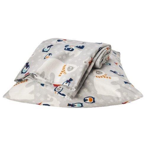 Warm & Cozy ~ Polar Bear Flannel Sheet Set ~ Full front-918745