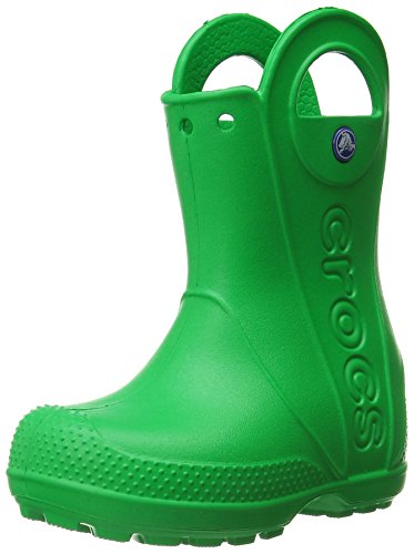 Crocs - Kids Handle It Rain Boot, Stivali  per bambine e ragazze, (Vert (Grass Green)), 29/30